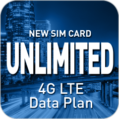 Unlimited Monthly 4G LTE with a New SIM Card ($25.00 Per Month with 4 Month Commitment)